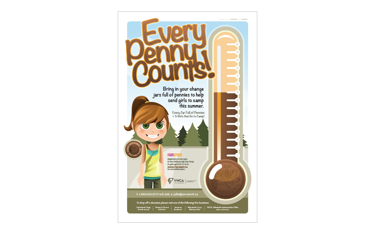 Poster design help - Ywca Everypennycounts Poster